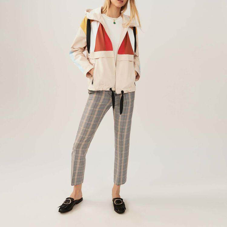 Kurzer mehrfarbiger Anorak : Jacken farbe Beige