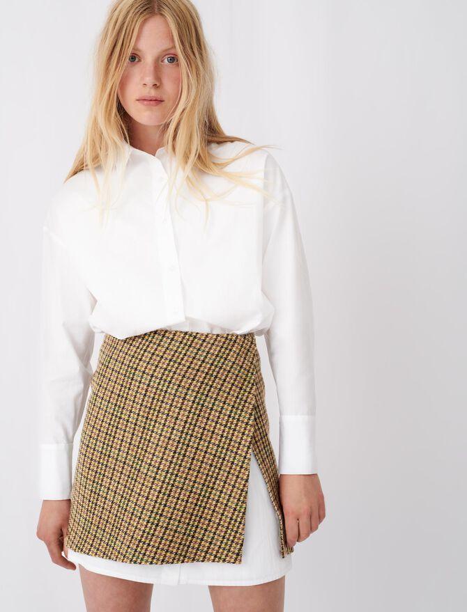 Kariertes Popeline-Kleid mit Kontrasten - Die ganze Kollektion - MAJE
