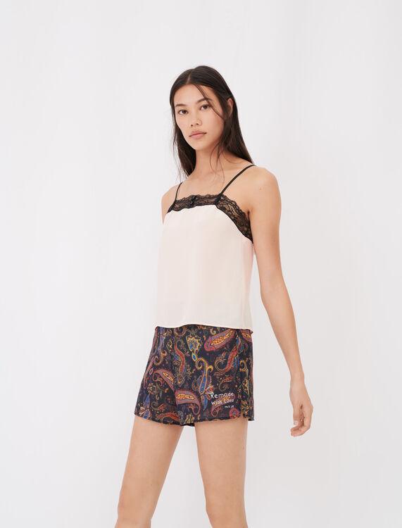 Set bedruckter Pyjama mit Spitze - Umweltfreundliche - MAJE