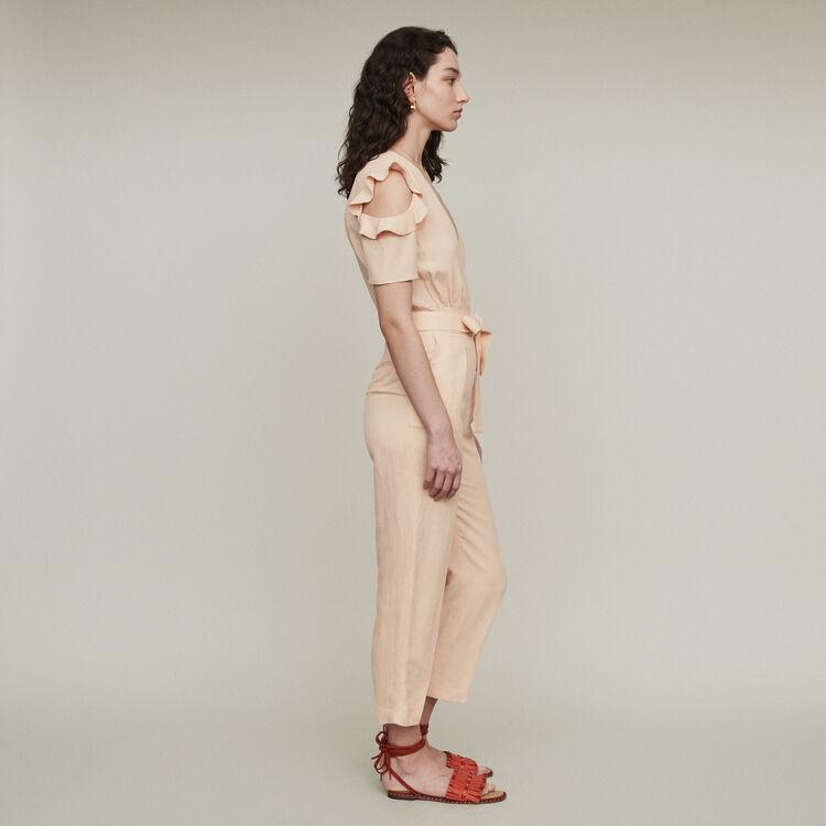 Jumpshort aus zwei Materialien : Hosen & Jeans farbe Mandarine