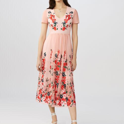 Long dress embroidered : Kleider farbe Schwarz