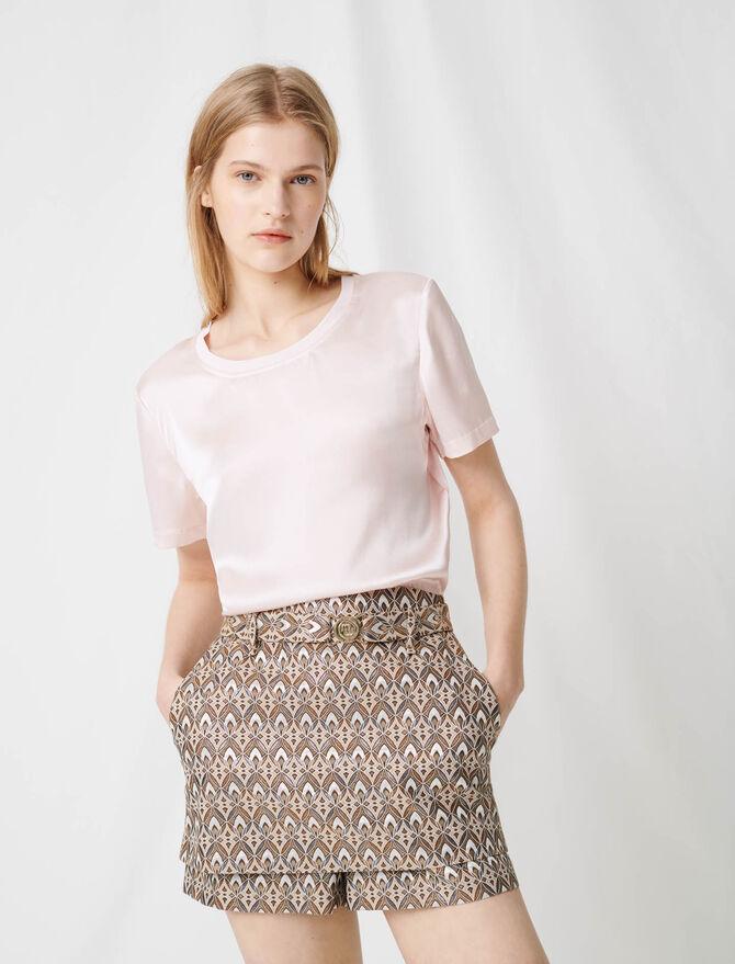 T-Shirt aus Baumwolle und Seide - Die ganze Kollektion - MAJE