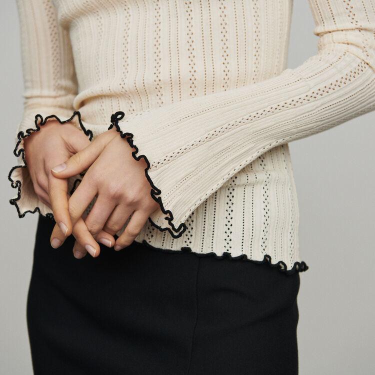 Edler Strickpullover : Pullover & Strickjacken farbe  Off-White