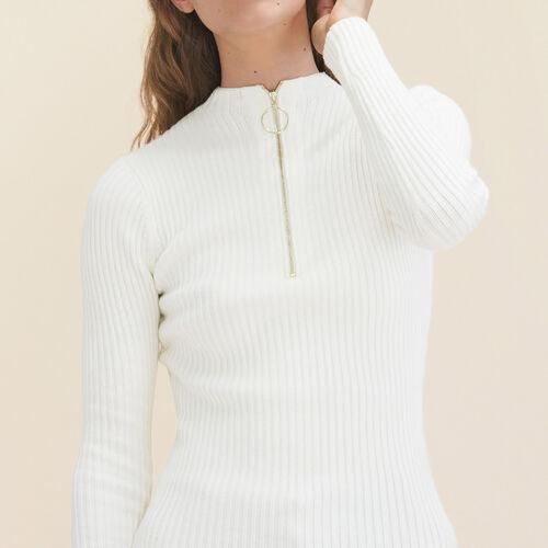 Pullover aus elastischem Feinstrick : Pulls & Cardigans farbe Ecru