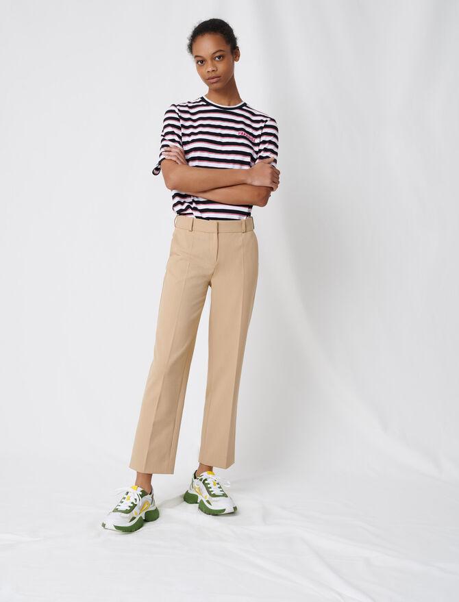 Beigefarbene Kostümhose - Hosen & Jeans - MAJE