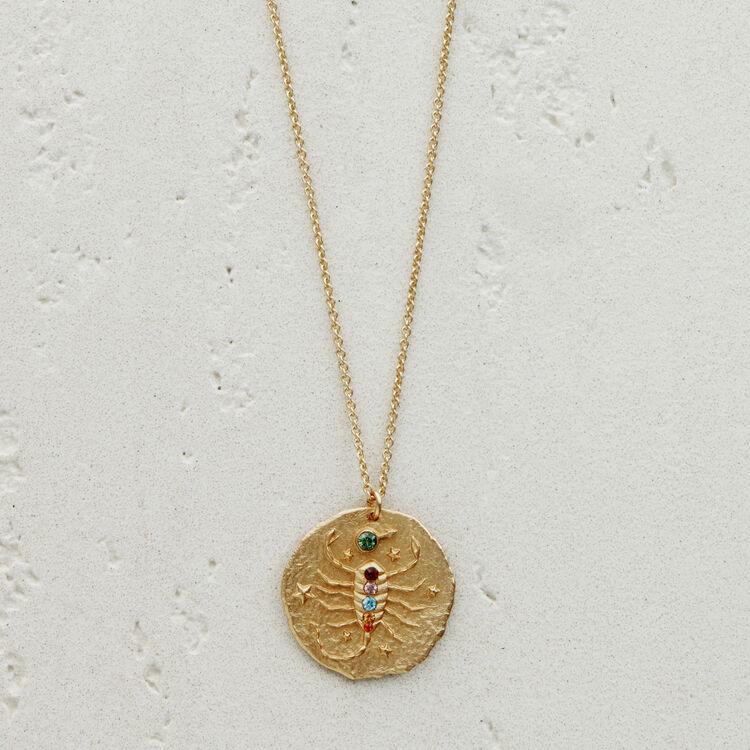 Collier Sternzeichen Skorpion : Medaillons farbe OR