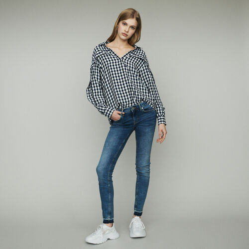 Bluse mit Vichy-Muster : Hemden farbe CARREAUX