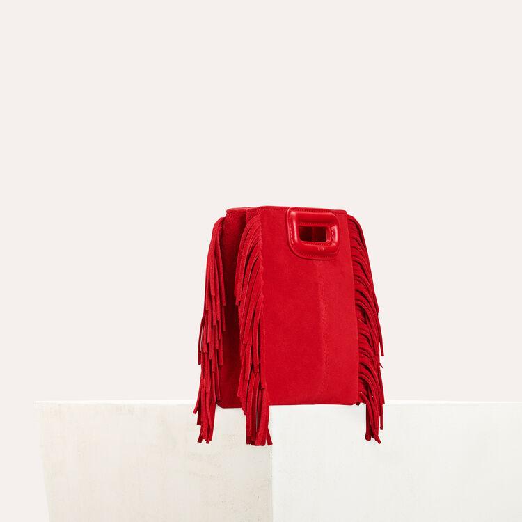 Mini-M-Tasche aus Wildleder : M Mini farbe Rot
