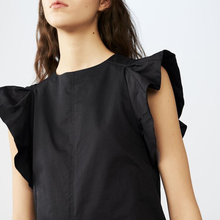 Volant-Top aus Baumwolle : Tops farbe Schwarz