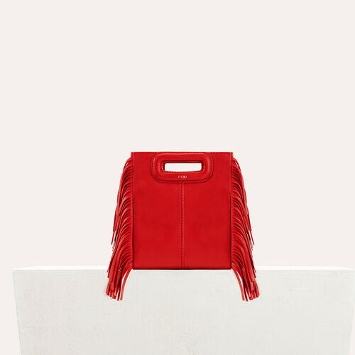 M-Minitasche mit Lederfransen : M Tasche farbe RED
