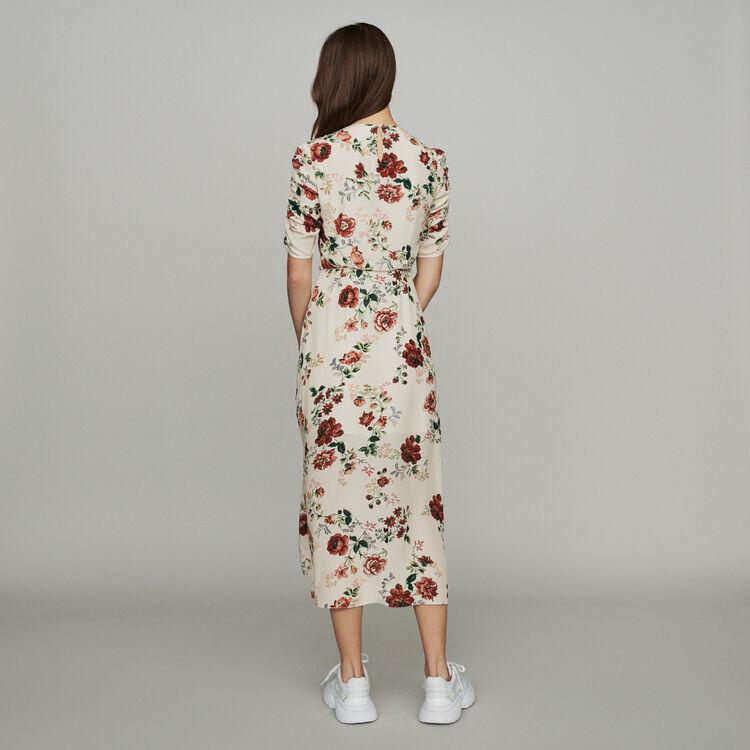 Langes Kleid mit Allover Blumen-Print : Kleider farbe Print