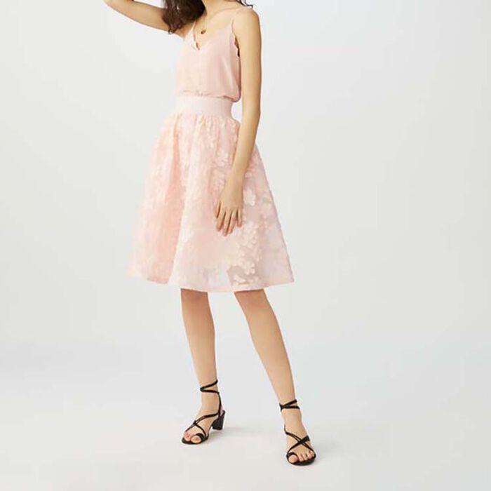 Unterrock aus Basket-Strick : Röcke & Shorts farbe Rosa