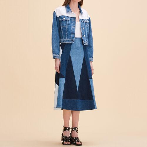 Rock mit Jeansborten : Röcke und Shorts farbe Denim