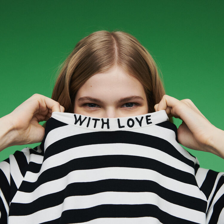Bicolor striped T-shirt : T-Shirts farbe Gestreift