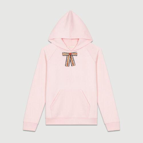Kapuzen-Sweatshirt mit abnehmbarer : Sweatshirts farbe Hellrosa