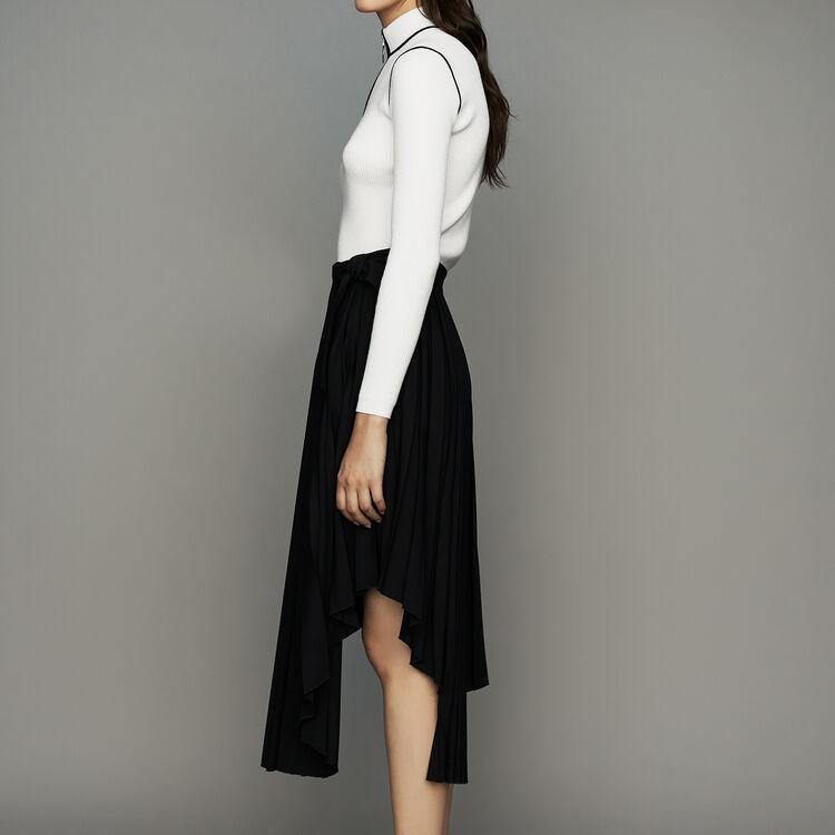 Asymmetrischer Plissee-Rock : Röcke & Shorts farbe Schwarz