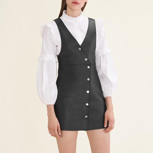 Ärmelloses Kleid aus Leder : Robes farbe Schwarz