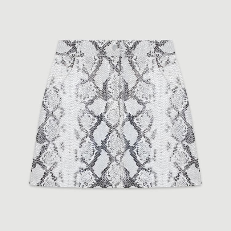 Kurzer Lederrock im Python-Stil : Röcke & Shorts farbe IMPRIME