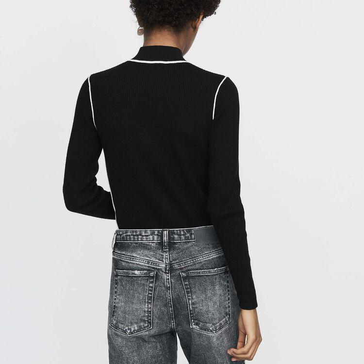 Pullover mit Truckerkragen : Urban farbe Schwarz