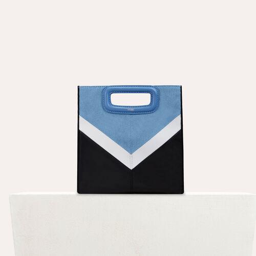 M Tasche aus Leder und Denim : M Tasche farbe Mehrfarbigen