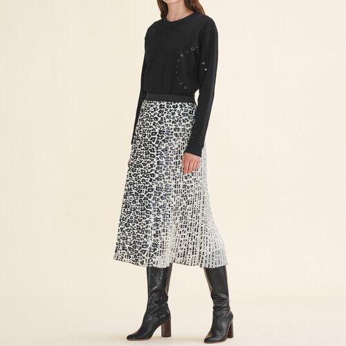 Faltenrock mit Leoparddruck : Jupes & Shorts farbe IMPRIME