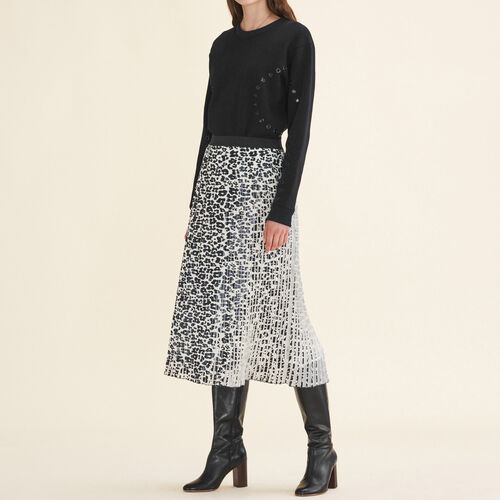 Faltenrock mit Leoparddruck - Röcke & Shorts - MAJE