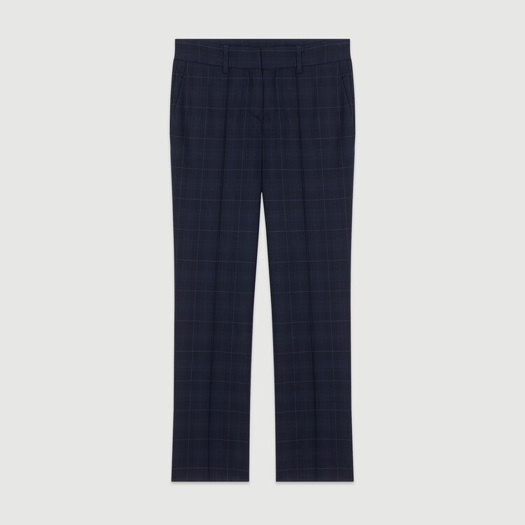 7/8 Hose mit Karomuster : Hosen & Jeans farbe Marineblau