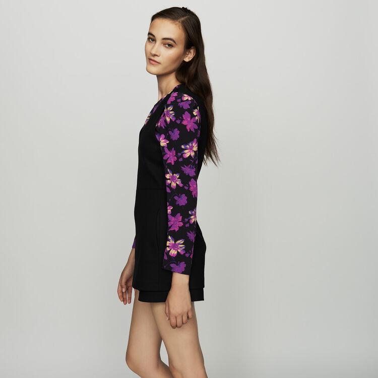 Combishorts mit Trompe-l'oeil-Effekt : Röcke & Shorts farbe Schwarz
