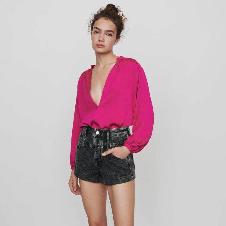 Used Shorts mit Gürtel : Röcke & Shorts farbe Anthrazit