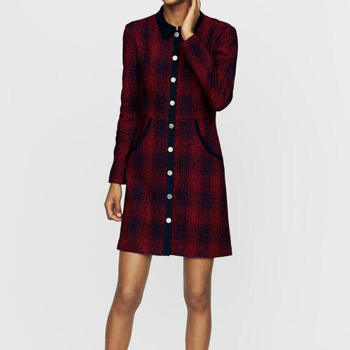 Tweed-Hemd-Kleid : Kleider farbe CARREAUX