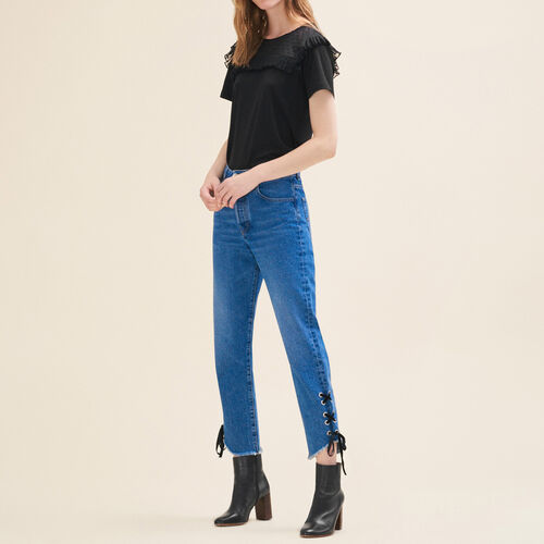 Kurze Jeans im Boyfriend-Schnitt - Jeans - MAJE