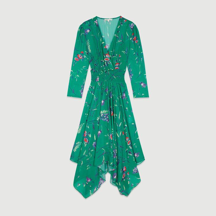 Langes Kleid mit Blumen Print : Kleider farbe IMPRIME
