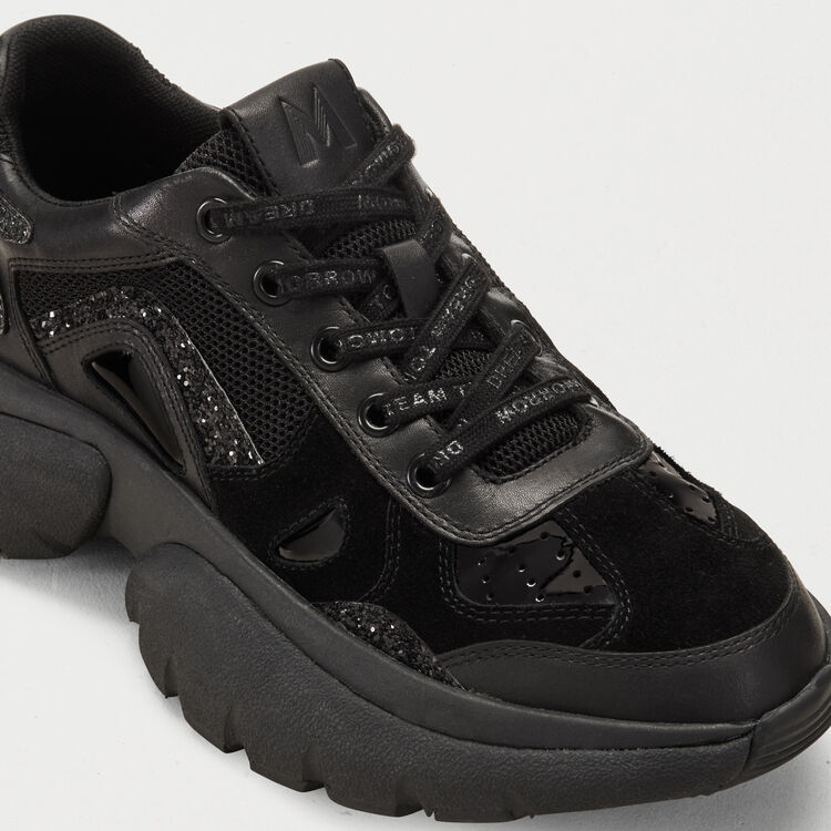 W20 Urban Ledersneakers : Sneakers farbe Schwarz
