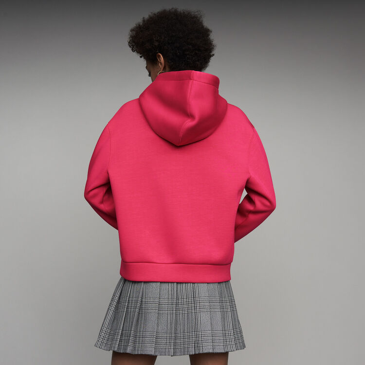 Oversize-Kapuzen-Sweatshirt : Sweatshirts farbe Fuchsiafarben