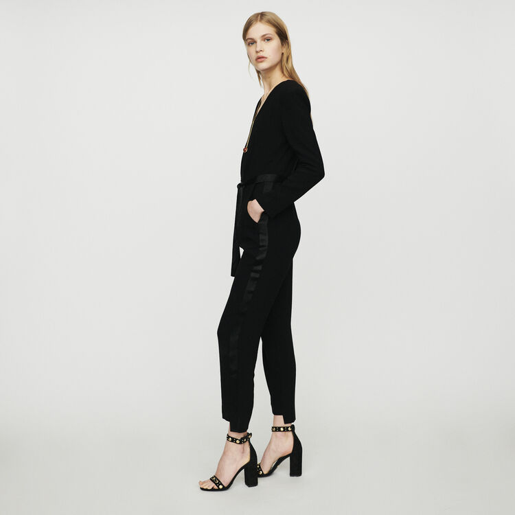 Krepp-Jumpsuit : Hosen & Jeans farbe Schwarz