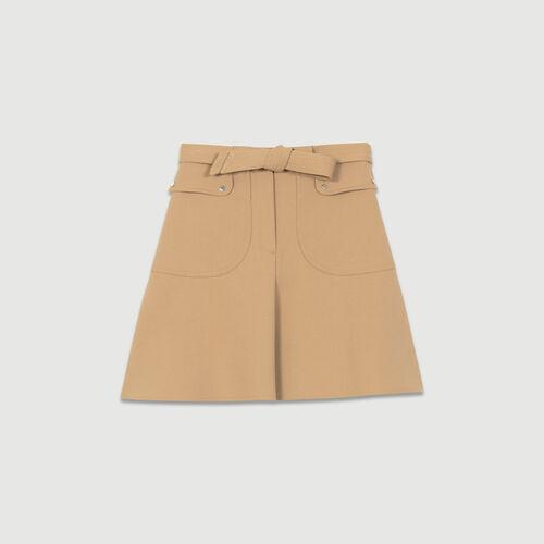 Rock mit Band zum Binden : Röcke & Shorts farbe Camel
