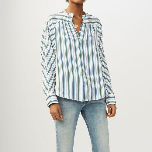 Gestreiftes Oversize-Hemd : Hemden farbe Print