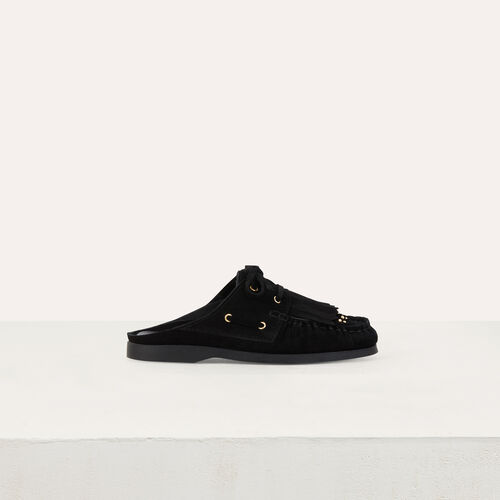 Float shoes in suede : Flache Schuhe farbe SCHWARZ