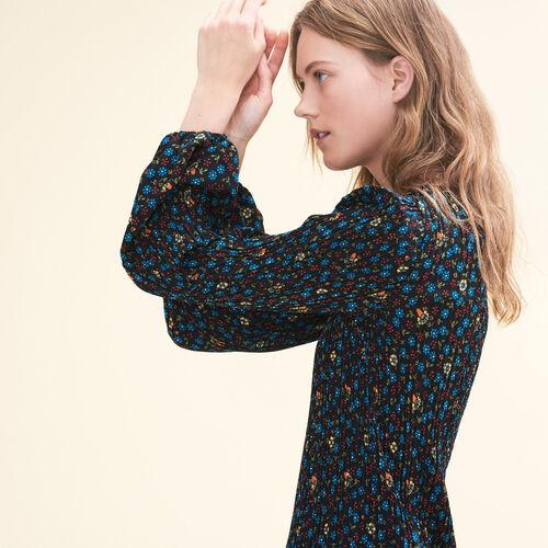 Plissiertes Kleid mit Print : Kleider farbe IMPRIME