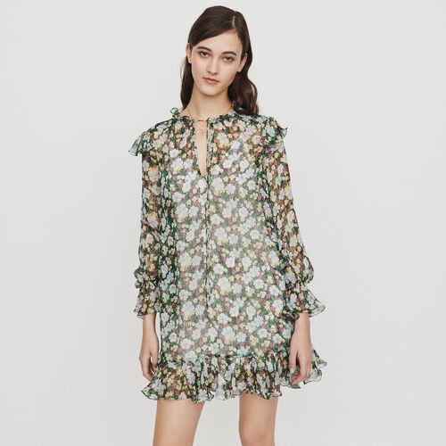 Kurzes Kleid mit Volants : Kleider farbe IMPRIME