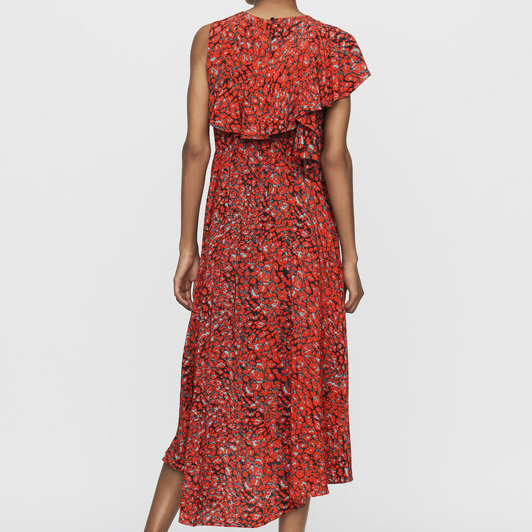 Ärmelloses asymmetrisches : Kleider farbe Print