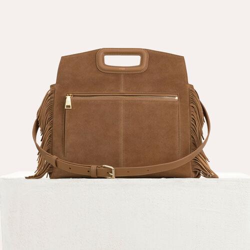 MWALK-Tasche mit Lederfransen : M Walk farbe Camel