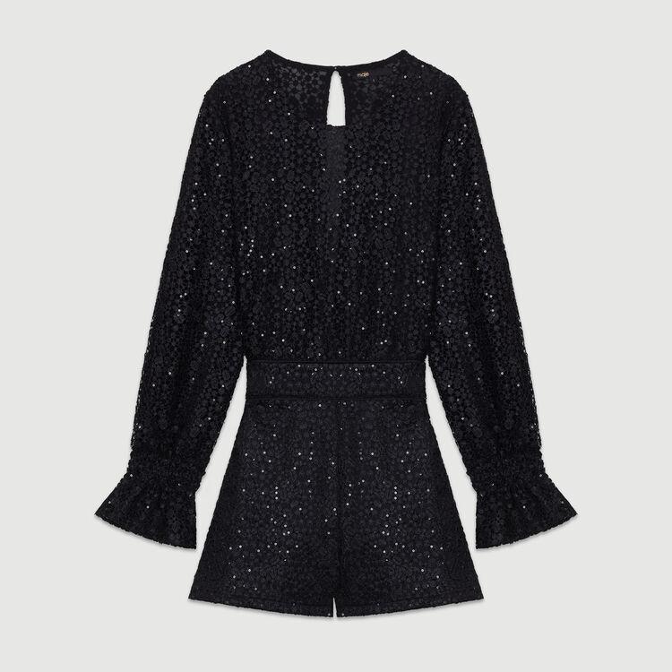 Jumpshort aus Spitze : Röcke & Shorts farbe Schwarz