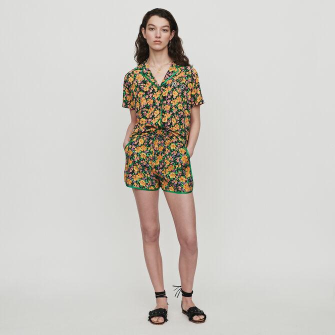 Hemd im Pyjama Look mit Print - staff private sale - MAJE