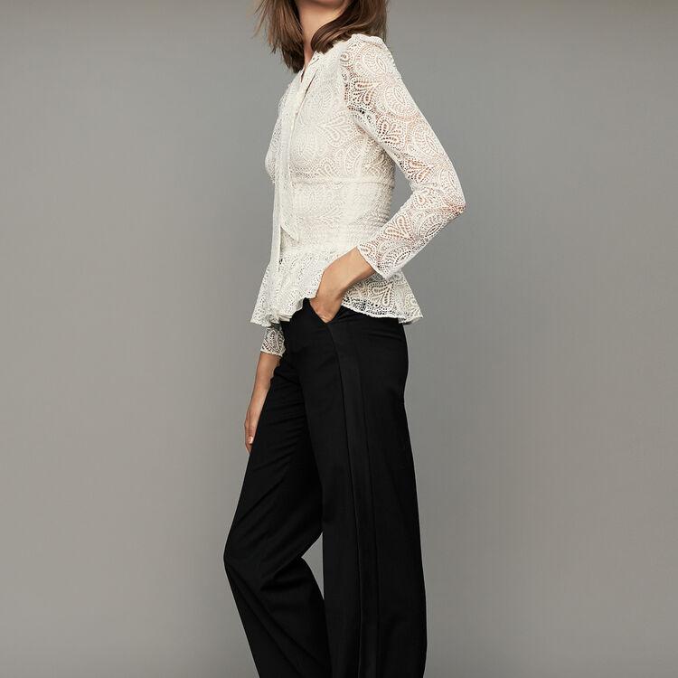 Breite Bundfaltenhose : Hosen farbe Schwarz