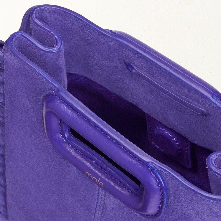 Mini-M-Tasche aus Wildleder mit Kette : M Mini farbe Violett