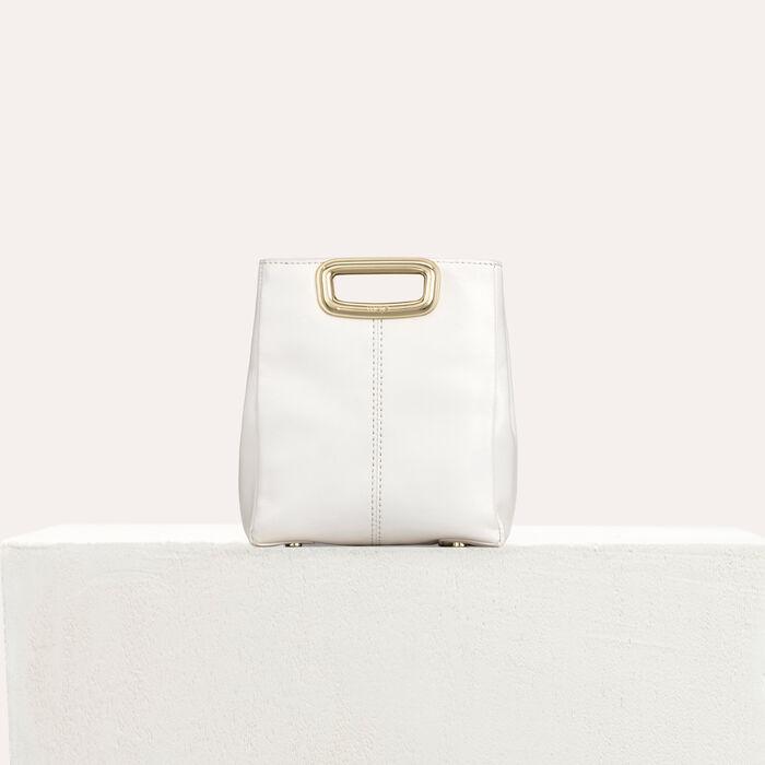 M Mini Skin Clutch aus Leder : M Mini farbe Weiss