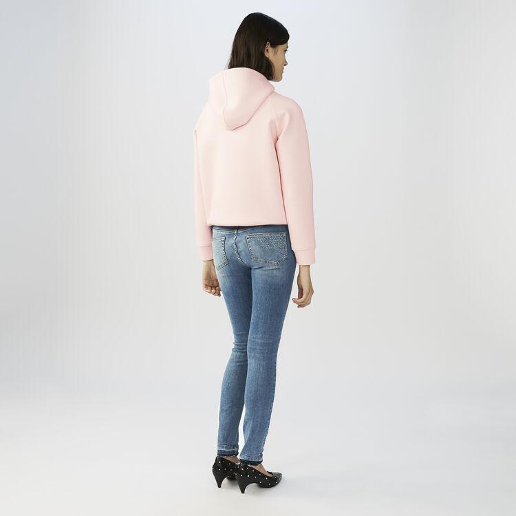 Verwaschene Skinny-Jeans : Jeans farbe Denim