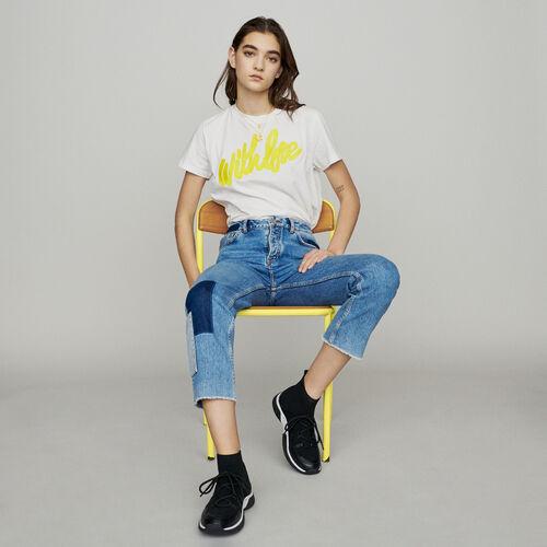 Gerade Jeans mit Aufsätzen : New in : Sommer Kollektion farbe Blau