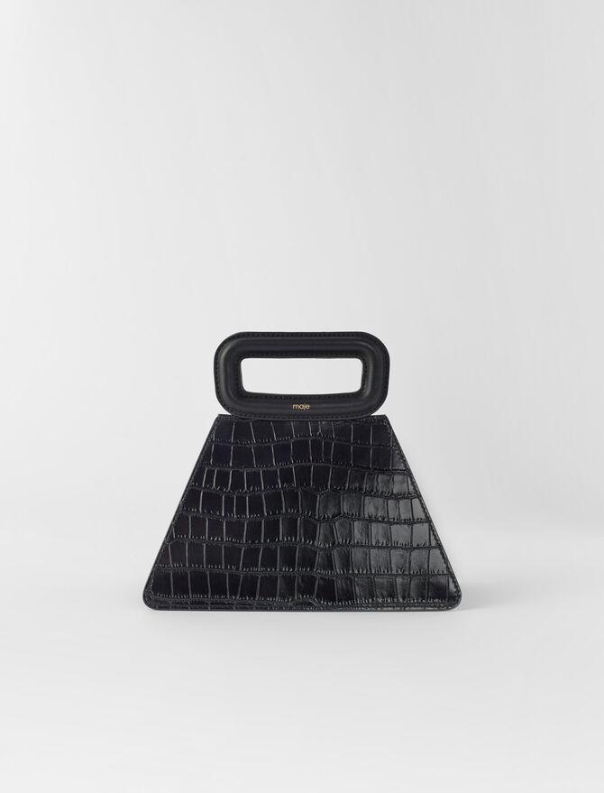 Pyramidenförmige Ledertragetasche -  - MAJE